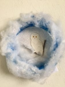 Pre-school project: Snow Owl in a nest