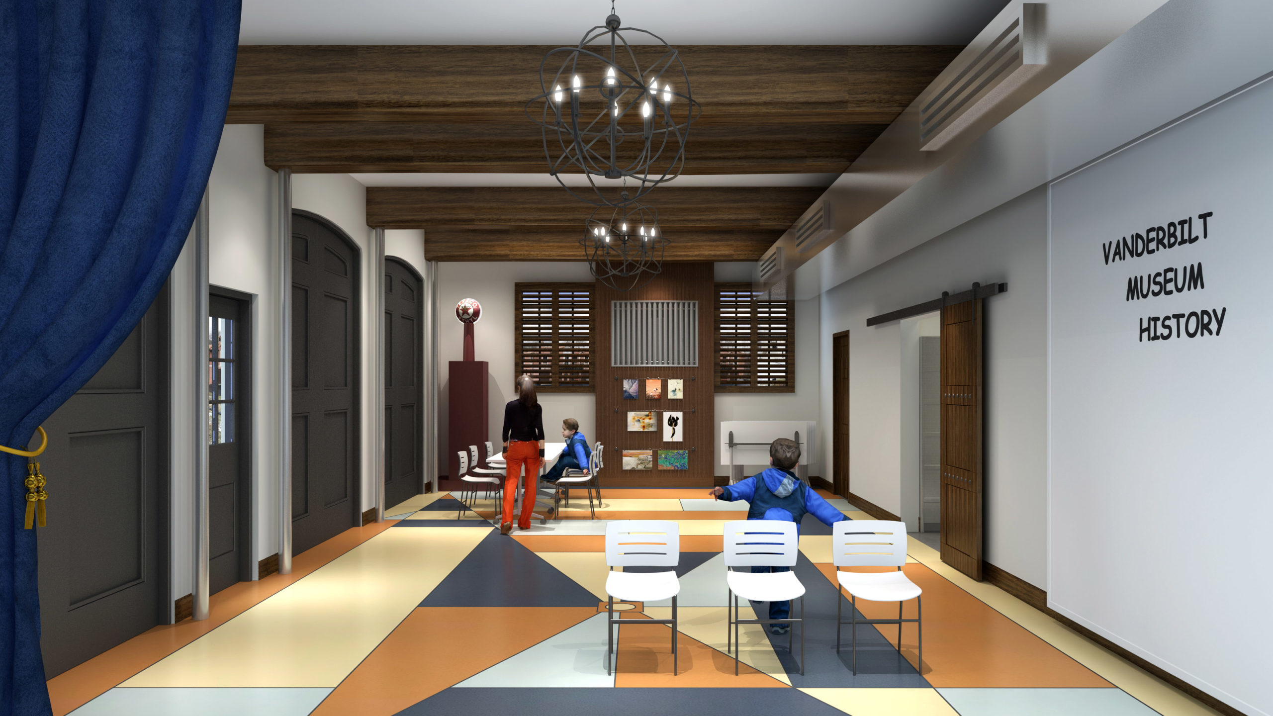 Render of the Learning Center renovation